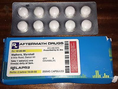 """EMINEM Promotional Aftermath """"Drugs"""" Dr. Dre Marshall Mathers Relapse ULTRA RARE"""
