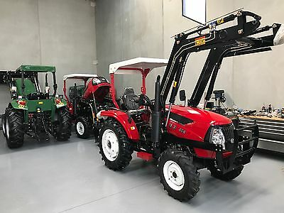 40HP 4WD Tractor, 4-in-1 Front End Loader, Rear Hydraulics, Shuttle Shift