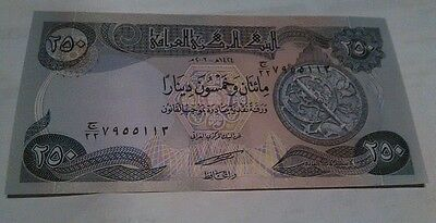 250 iraq  dinars unc 2003 crisp dinar new IQD  free ship order over $10