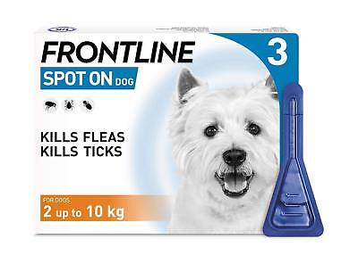 Frontline Spot On for Small Dogs 3 or 6 Pipettes Flea Lice Tick Treatment NEW