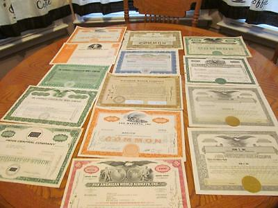 25    Bonds /   Stock Certificates; All Different;lot # 9