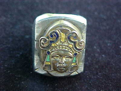 Vintage Mexico Mexican Biker Ring Aztec Mayan Size 9