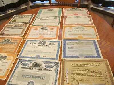25    Bonds /   Stock Certificates; All Different;lot # 10
