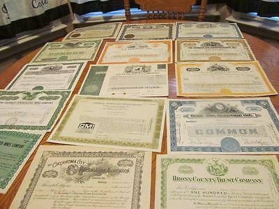 25    Bonds /   Stock Certificates; All Different;lot # 12