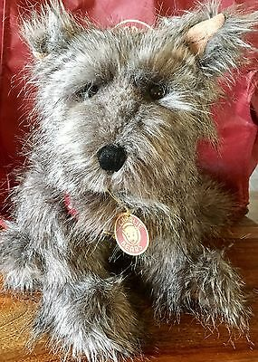 """Medium Grey Dog """"Difor"""" Charlie Bear With Tag, Leaflet And Bag. New"""