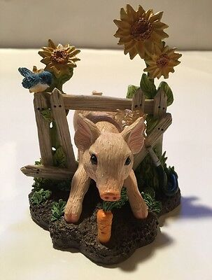 The Hamilton Collection The FARM LIVIN' PIGLETS COLLECTION Pig Figurine Cute