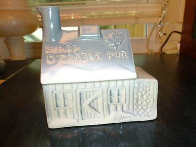 Vintage Beauce Canada French Log Cabin Maple Syrup Advertising Ceramic Pottery