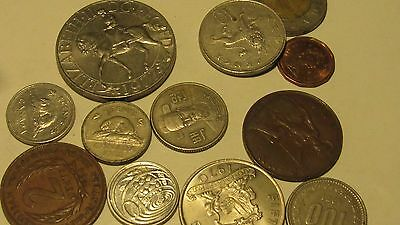 Lot of 10 Coins Great Britain, Canada and the Caribbean and Korea