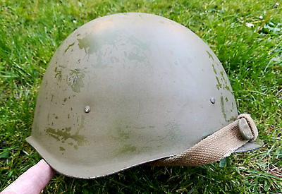 CASQUE RUSSE DE L'ARMEE ROUGE WW2<>1943<>Ssh39<>SOVIET / RUSSIAN HELMET RED ARMY
