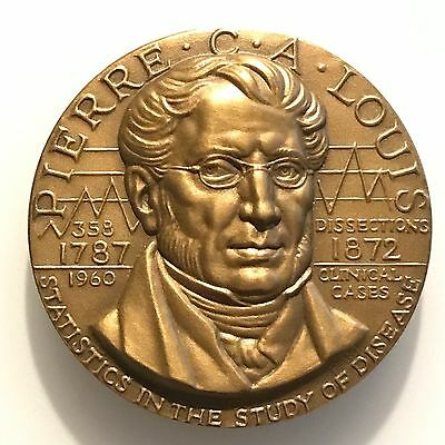 Pierre Louis Great Men of Medicine Epidemiology Bronze Medal Belskie MEDICAL