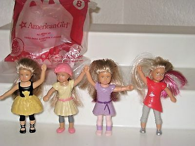 McDonald's American Girl Isabelle MINI DOLLS & All Sewn up Toy Happy meals Lot