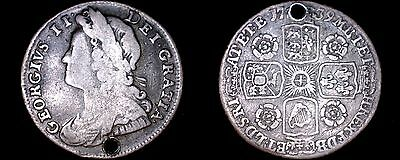 1739 Great Britain 6 Pence World Silver Coin - UK - George II - England - Holed