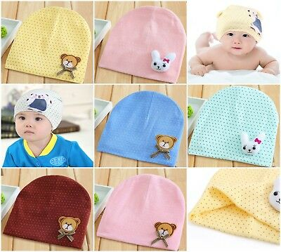 Kids Baby Cotton Beanie Soft Girl Boy Knit Hat Toddler Infant Kid Newborn Cap