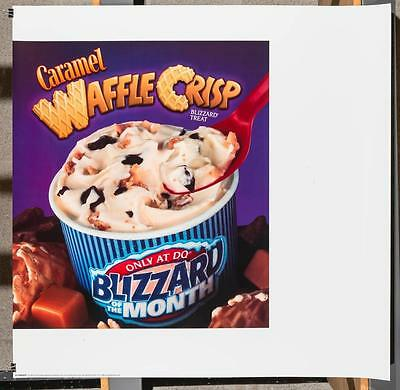 Dairy Queen Promotional Poster For Backlit Menu Sign Caramel Waffle Crisp dq2