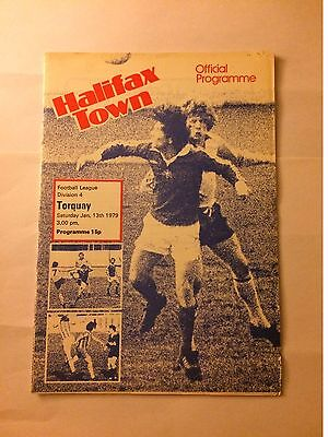 HALIFAX TOWN v TORQUAY UNITED 1978 / 79 Division 4 - January 13th 1979