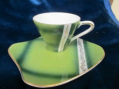 Vintage Japanese Fine China Retro Cup And Saucer /tv Set / 60,s Japanese China