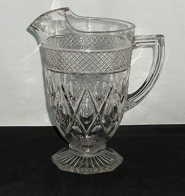 """Imperial CAPE COD CRYSTAL *8 3/4"""" FOOTED PITCHER*160/24"""