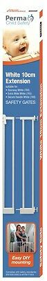 White Perma Child Safety 10cm Extension (741) use with gate 740
