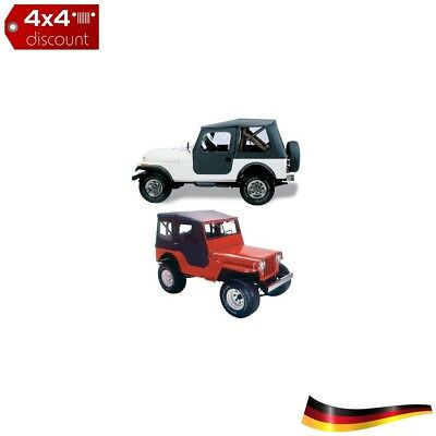 Tigertop Complete Soft Top CJ-2A & MB Willys Jeep Willys MB 1941/1945, Schwarz