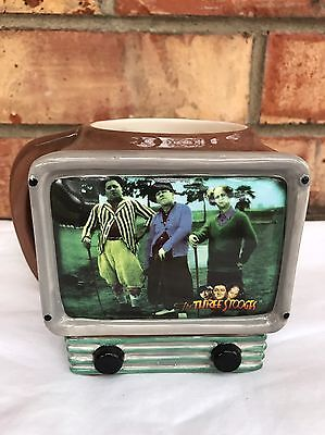 The Three Stooges Television Mug Rare Hard To Find Mo Larry Curly