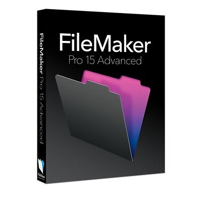 Filemaker Pro 15 Advanced - Full Retail US English ver. MAC (Multilingual) DVD