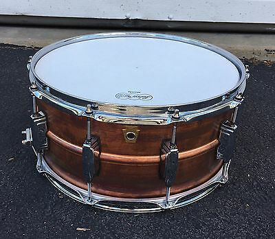 LUDWIG 6.5 X 14 COPPERPHONIC SNARE DRUM W/ FREE DW KEY. Stunning Looks And Sound