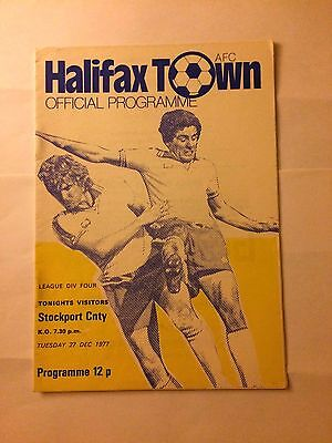 halifax town v stockport county 1977