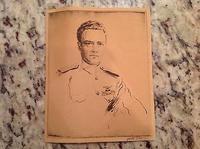 WWII Navy Rear Admiral Richard Byrd picture Walter Tittle etching Medal of Honor