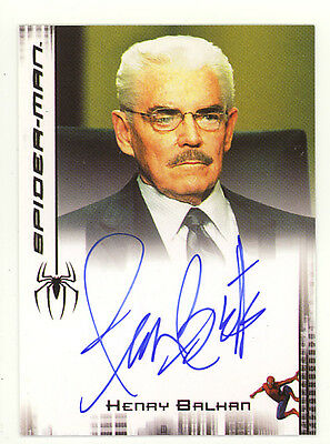 Spider-Man 3 movie Rittenhouse Autograph chase card Jack Betts as Henry Balkan
