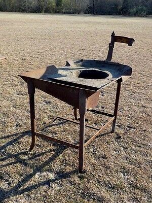 Blacksmith Forge Foundry Horseshoe Iron Worker Wrought Tool Table Industrial
