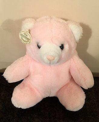 """Ganz The Heritage Collection HUGGLES 1987 Pink Plush Bear 10"""""""