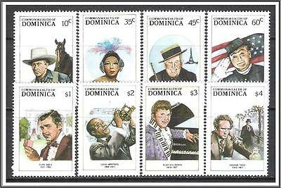 Dominica #1091-1098 Entertainers MNH