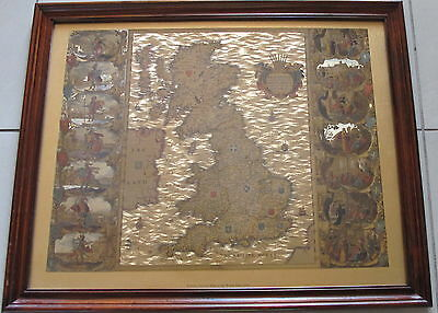 Joannes Jansson Map of the British Isles 1646~Golden Sheet~Nicely Framed