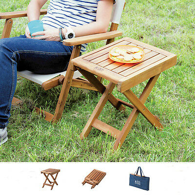 Folding Wood Side Table Portable Bag Camping Picnic Garden Deck Outdoor NX-513