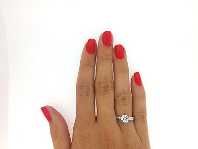 1.50 Ct Round Cut D Si1 Diamond Solitaire Engagement Ring 14K White Gold