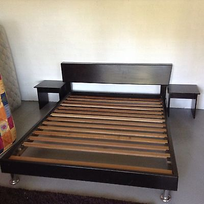 Queen Size Black Wooden Bed Frame Great Condition