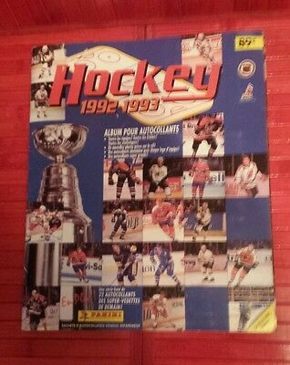 NHL hockey Panini sticker book 1992 / 1993 Montreal Canadiens Québec Nordiques