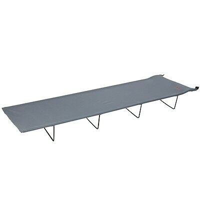 Red Mountain Folding Camp Bed Portable Travel Cot Sleeping Steel Grey 1304400