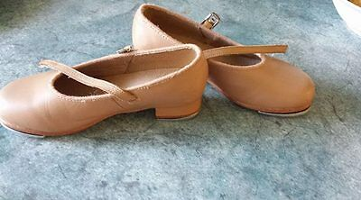 Girls Tan Tap Shoes Bloch Size 10 1/2