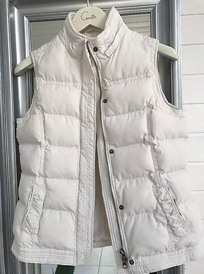 Ladies Cream Witchery Puffer/Padded Vest Size S