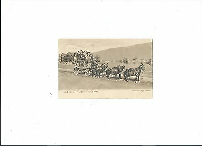Ynp Rarity, Haynes Early Yellowstone Postcard, Sepia Series, Coaching Party Mint