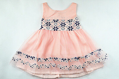 Quality Pink Flowers Girls Kids Dance Dress Tutu Skirt party Costume Size 0-1