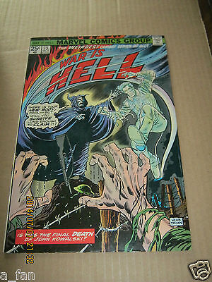 War Is Hell # 15 October 1975 Chris Claremont Herb Trimpe Final Issue - Death.