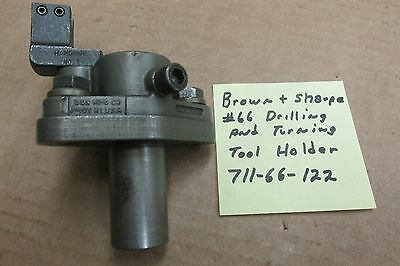 Brown & Sharpe #66 drilling and turning tool holder
