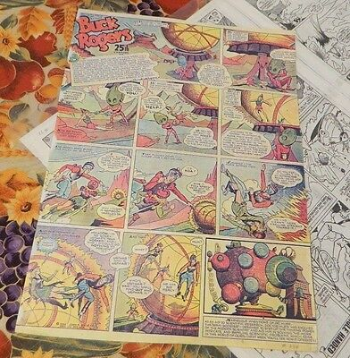 Vintage Buck Rogers Sunday Color Comic Copies #234  USED