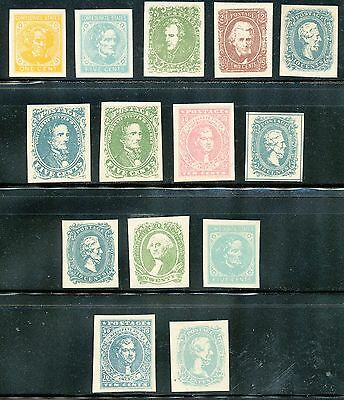 Usa-1861-62 Sc # 1-14 General Issues Imperf -Facsimile,-Mnh ( 1 )