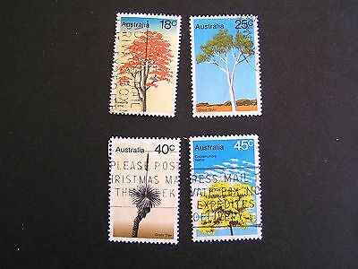 1978 Australian Trees, Special Issue Set of 4 Stamps Used