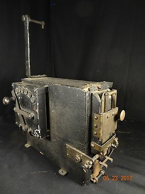 Early Antique Wooden Box Movie Projector with General Electric Rheostat.