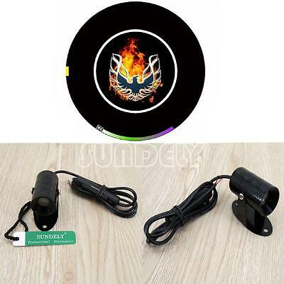 Motorcycle LED Laser Fog Projector Light Signal Lamp 3 d fire phoenix Logo, BLAC