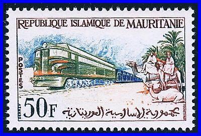 Mauritania 1962 Electric Train / Locomotive Mnh Cv$3.00 Camels, Animals (K-Dec)